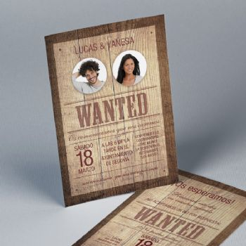 Convites Casamento Most Wanted 20859